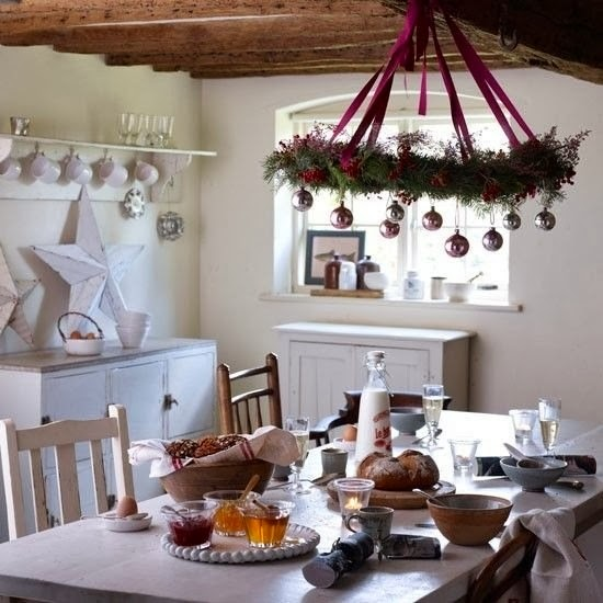 Kitchen Table Decorating Ideas: Shabby In Love: Christmas Kitchen Decor Ideas