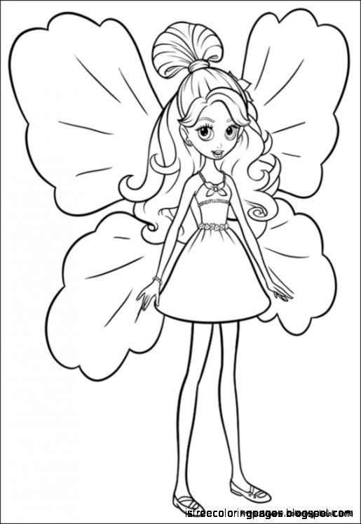 barbie thumbelina coloring pages free