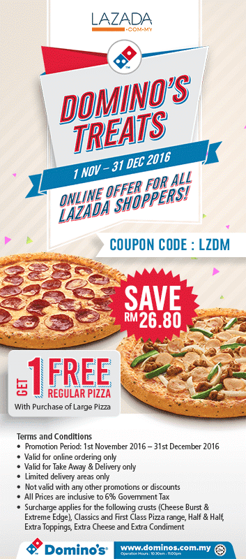 Dominos large pizza coupon