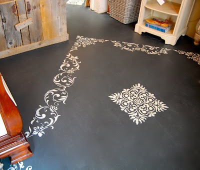 Amber Had Gotten Sick Of The Old Carpet In Her Store So She Ripped It Out  And Painted The Underlying Concrete Floor With Annie Sloan Chalk Paint!