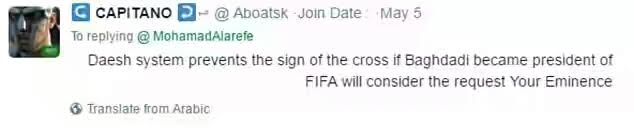 Muslim cleric wants FIFA to ban christian players from making Christian signs on the pitch