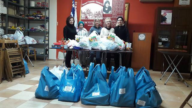 Τρόφιμα σε οικογένειες  που έχουν ανάγκη από το Ίδρυμα Γεωργία Σαμαρτζή «Πολιτεία Αγάπης»