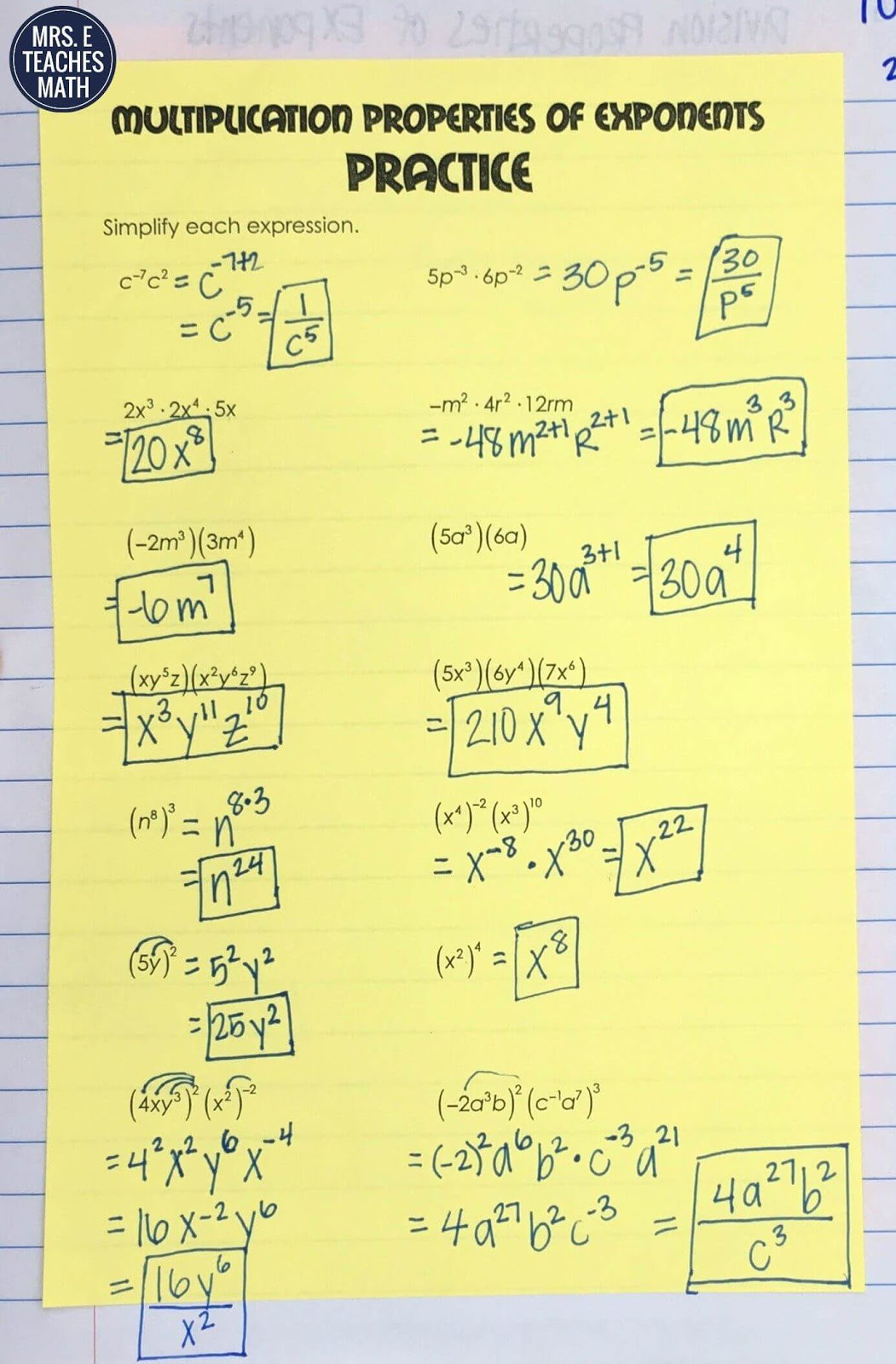 Exponents Inb Pages
