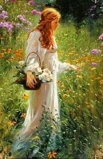 Resultado de imagem para imagem de uma camponesa colhendo flores