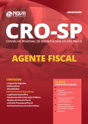 Apostila Concurso CRO SP 2020 Agente Fiscal Grátis Cursos Online