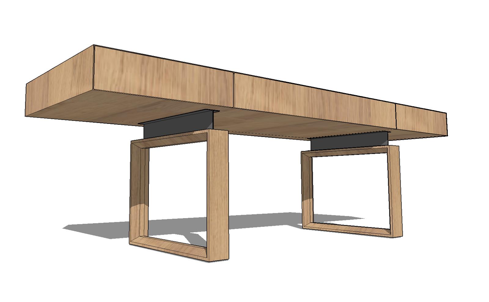 Fukusu Furniture Design Modern Minimalist Wooden Steel Dining Table And Study Table Desk