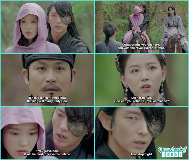 hae so was with 4th prince on his horse the astronomer told hae so is going to be kings wife so she has to leave - Moon Lovers Scarlet Heart Ryeo - Episode 6 Review