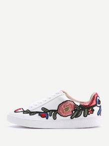 çiçekli spor ayakkabı-sneakers