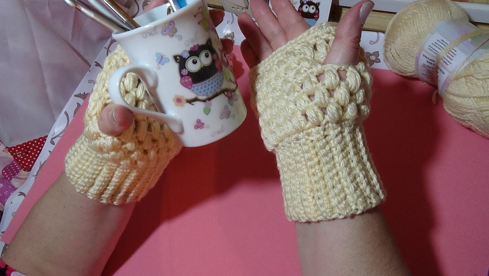 Delicadezas en crochet Gabriela: Guantes sin dedos paso a paso en ...