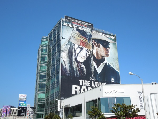 Giant Lone Ranger movie billboard