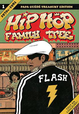 """Couverture de """"HIP HOP FAMILY TREE"""" T1 de Ed Piskor chez Papa Guede"""