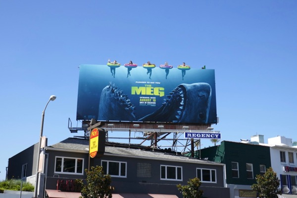 Meg extension cut-out billboard