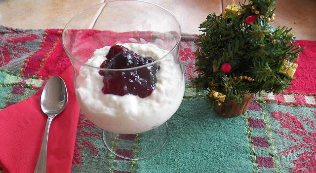 Ris'alamande med kirsebærsauce