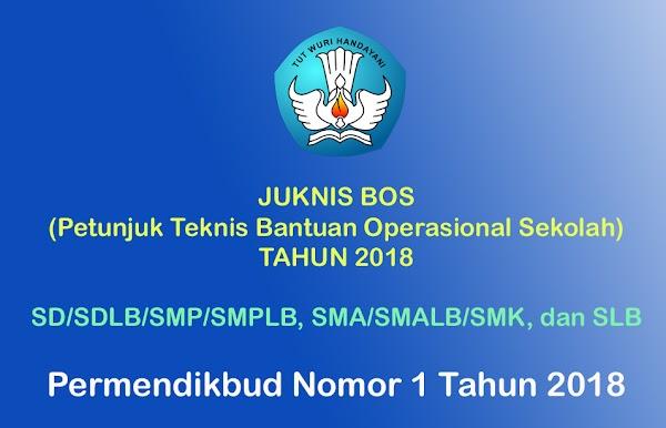 Download Juknis BOS 2018 SD SMP SMA SMK SLB