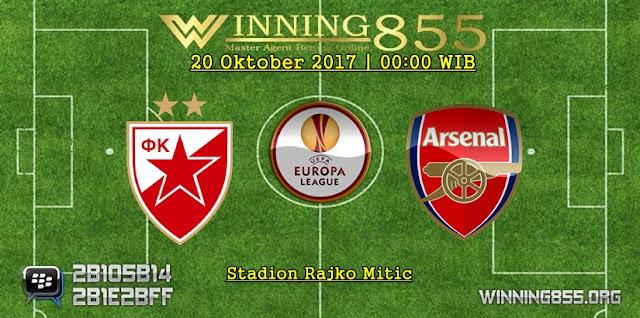 Prediksi Skor Crvena vs Arsenal 20 Oktober 2017