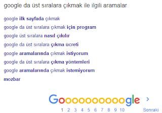 google-sonuçları