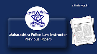 Maharashtra Police Law Instructor Previous Papers