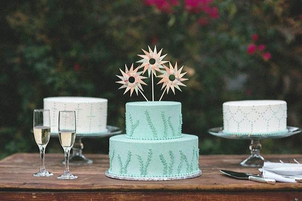tarta nupcial color azul celeste chicanddeco