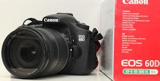 Canon Eos 60D Kit II - 18-135 - Garansi Desember 2015
