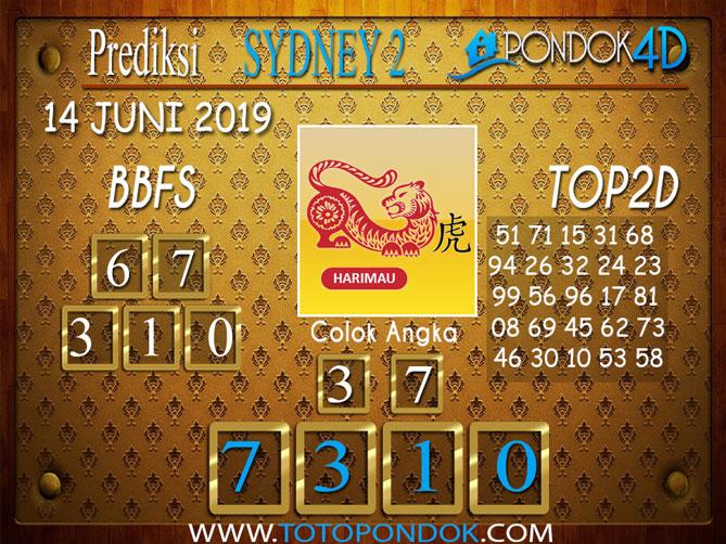 Prediksi Togel SYDNEY 2 PONDOK4D 14 JUNI 2019