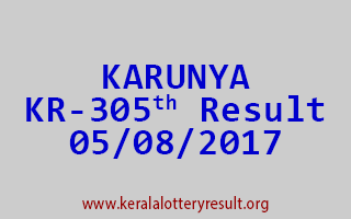 KARUNYA Lottery KR 305 Results 5-8-2017