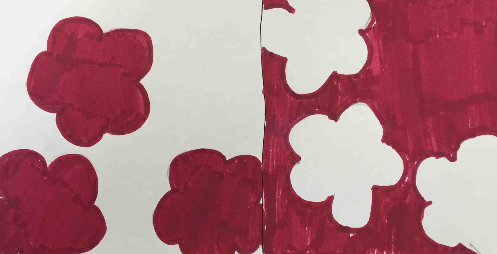 Create Art With Mrs P Positive And Negative Space Sketchbook Activity Worksheet
