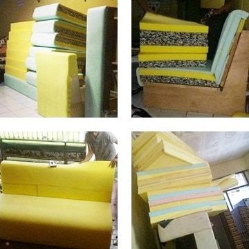 rangka sofa baru