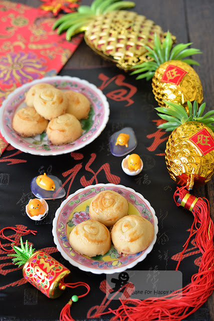 melt in the mouth salted egg yolk pineapple tarts