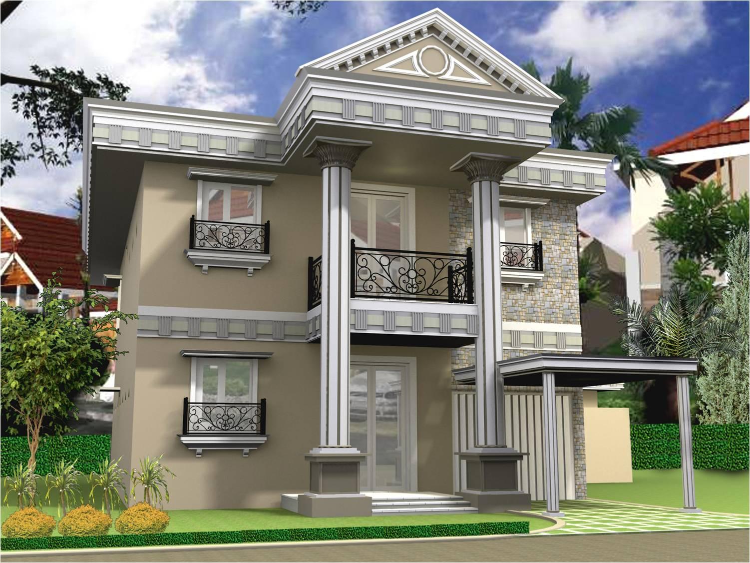 40 Koleksi Desain Rumah Minimalis Eropa 2 Lantai HD Terbaru