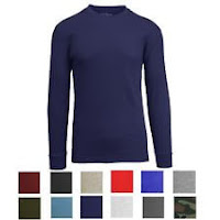 Men's Long Sleeve Waffle Thermal Shirt Tee -Crew Neck Layering Color & Size