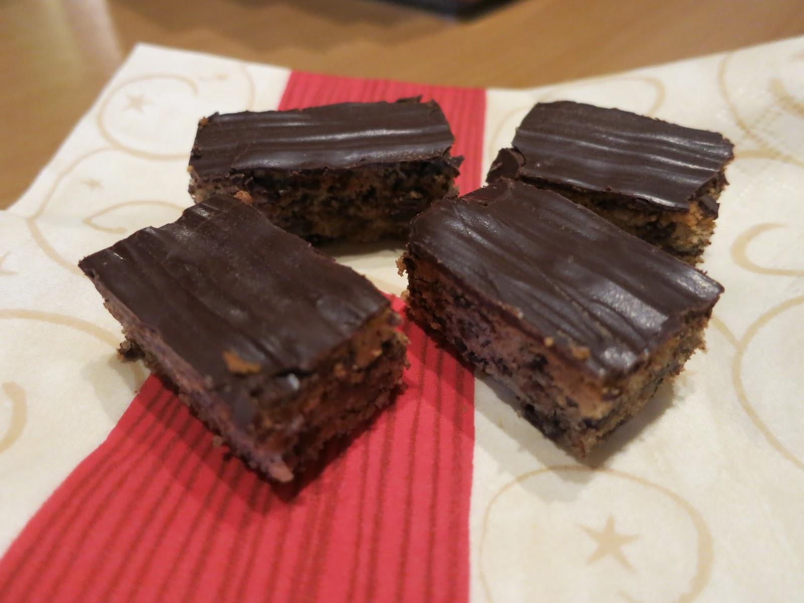 Schokoladenbrot Weihnachten.Lieblingsplatzchen Schokoladenbrot