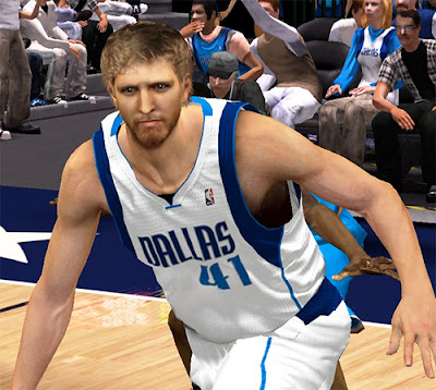 NBA 2K13 Dirk Nowitzki Long Bear Face Update