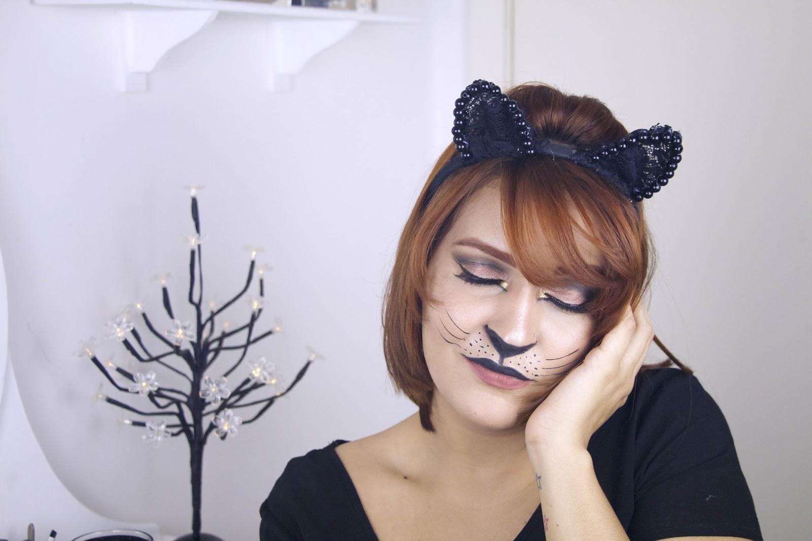 Carnaval 2016, carnaval, make up, maquiagem, maquiagem para o carnaval, maquiagem de gatinho, make up cat, tutorial, diy , diy tiara de gatinho, diy tiara cat, cat