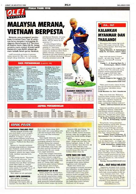 PIALA TIGER 98: MALAYSIA, MERANA VIETNAM BERPESTA