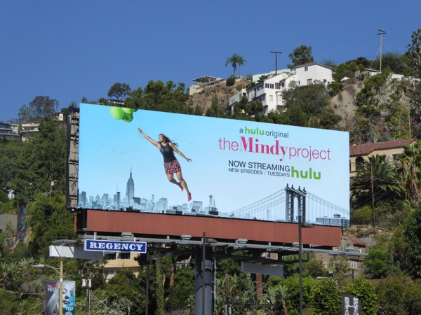The Mindy Project season 4 balloons billboard
