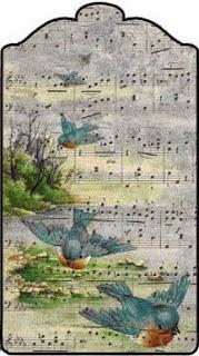 Etiquetas Retro con Fondo de Partitura Musical.