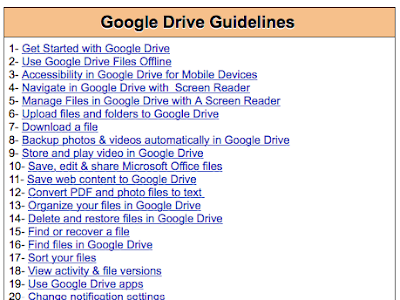 Make The Best of Google Drive in Your Teaching with This Handy Chart