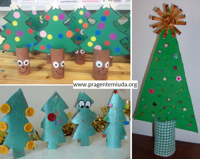 Excepcional Árvore de natal com reciclagem de rolo de papel higiênico | Pra  JU87