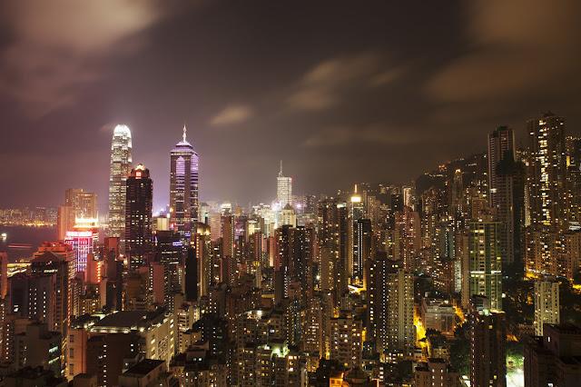 Kaupunki tapetti Hongkong Valokuvatapetti maisematapetti