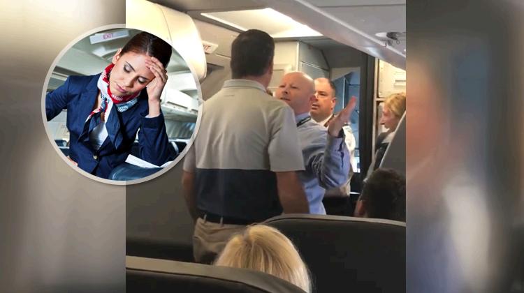 american airlines passenger flight attendant fight