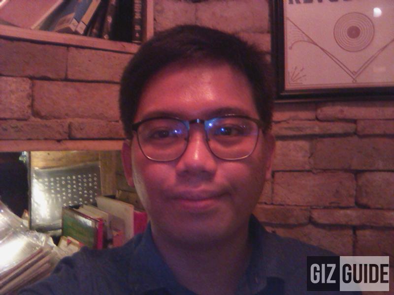 Selfie flash in low-light