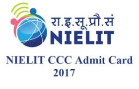 CCC December 2017 Admit Card