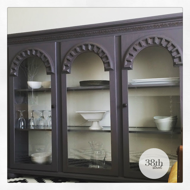 upcycled hutch, repurposed hutch, painted hutch, refinished hutch, hutch makeover, diy, classico chalk paint, pure & original, pure and original, warm white, burned sand