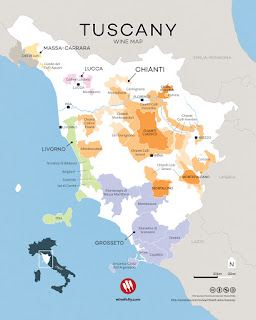 Tuscan wine regions including Maremma and Bolgheri