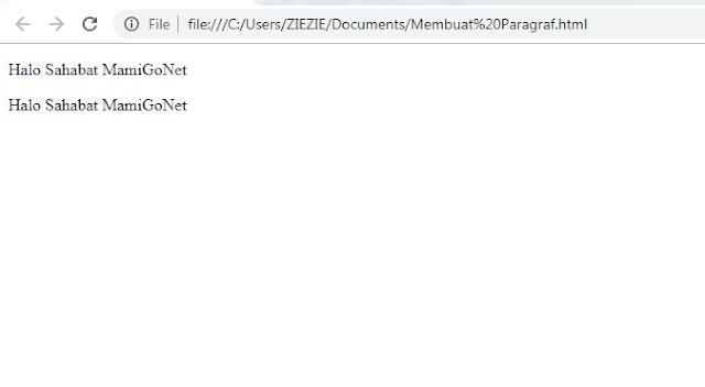 Cara Membuat Paragraf di HTML Tag <p>