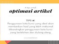 4 Cara Optimasi Artikel yang Baik dan Benar