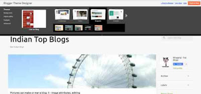 Emporio theme on Blogger