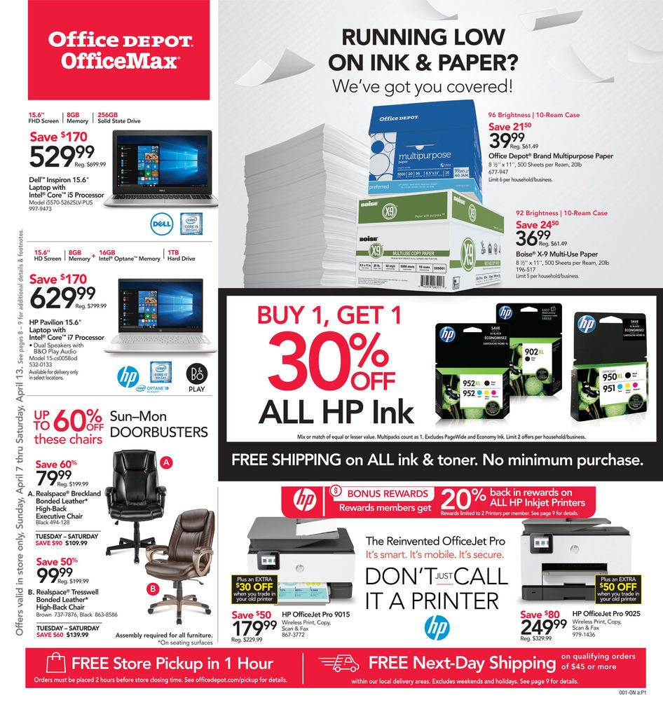 Office Depot Weekly Ad April 21 - 27, 2019 - Coupons and Deals