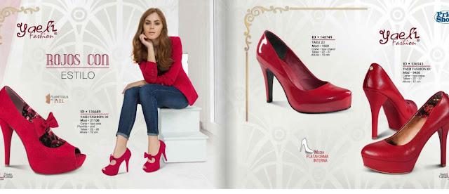 zapato rojos para damas