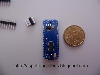 Fig. 4 - Il modulo Arduino Nano V 3.0 visto da sotto - foto di Paolo Luongo